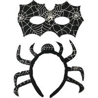 Hkostüm Örümcek Taç & Maske Set