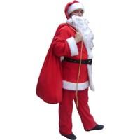 Bindallı Kostüm Yetişkin Noel Baba Kostümü Lüx
