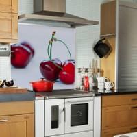 Kokmaz Bulaşmaz Silinebilinir Mutfak Kiraz Sticker 58 x 52 cm