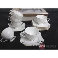 Acar Porselen 6 Lı Kahve Fincan Takımı
