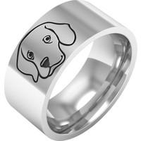 Ashyl Beagle Köpek Gümüş Alyans