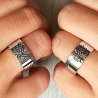 Ashyl Hayat Ağaci Gümüş Alyans, Kuşlu Ağaç Alyans