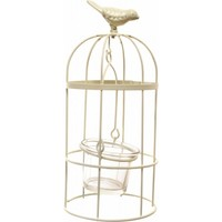 Decotown Metal Oval Cam Mumluk Kuş Kafes