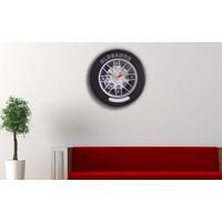 Original Boutique Dekoratif Oto Lastiği Görünümlü Duvar Saati