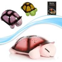 Pratik Türkçe Ninnili Kaplumbağa Gece Lambası (Pembe)