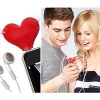 Pratik Kalp Şekilli Kulaklık Çoklayıcı