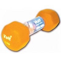 Voit Vdb-04 Altıgen Neopren Dumbbell 3 Kg Turuncu