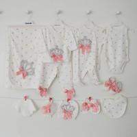 Eda Baby 9156-3 Prenses Baskılı 10'lu Hastane Çıkış Seti