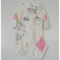 Tongs Baby T-1010 Fermuarlı Kız Bebek Tulum Takım