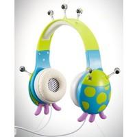 Vcom Çocuk Kulaklık - Uğur Böceği Mavi Yeşil