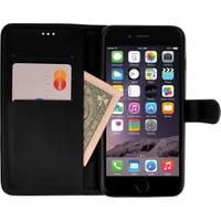 CaseUp Apple iPhone 6S Kılıf Cüzdanlı Suni Deri Kırılmaz Cam