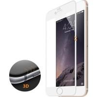 CaseUp iPhone 6S Plus 3D Kavisli Temperli Cam Full Ekran koruyucu Film Beyaz