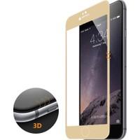 CaseUp iPhone 6S Plus 3D Kavisli Temperli Cam Full Ekran koruyucu Film Gold