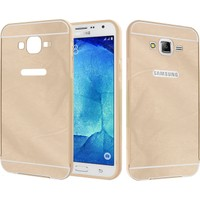 CaseUp Samsung Galaxy J2 Kılıf Metal Çerçeveli Aynalı Cam