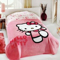 Hello Kitty Lisanslı Berry Tek Kişilik Battaniye