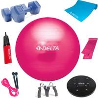 Delta Fuşya Deluxe Pilates Set + Egzersiz Multi-Set * PEMS-3