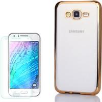 Gpack Samsung Galaxy J1 Mini Kılıf Lazer Silikon Renkli + Cam