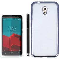 Gpack Vodafone Smart Style 7 Kılıf Lazer Silikon 0.3Mm + Kalem + Cam
