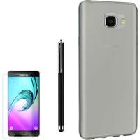 Gpack Samsung Galaxy C7 Kılıf 0.2Mm Silikon + Kalem + Cam