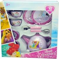 Disney Prensesler 10 Parça Metal Çay Seti