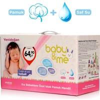 baby&me Islak Yenidoğan Pamuk Mendil Kız 24 Paket