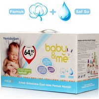 baby&me Islak Yenidoğan Pamuk Mendil Erkek 24 Paket
