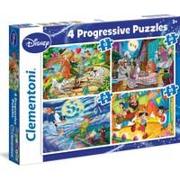 Clementoni 12+20+24+35 Parça Disney Klasikleri Dörtlü Puzzle