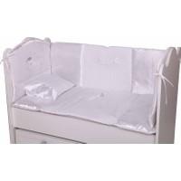 Babyhope Bebek Uyku Seti - Ayüstünde Ayı Beyaz 60*120