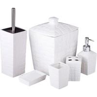 iHouse 12702 Porselen Banyo Seti 6 Lı Beyaz