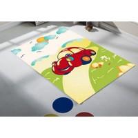 Sanat Halı Arabalı 1107 Renkli Çocuk Halısı