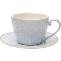 Yargıcı Seramik Çay Fincan Takımı ( 6 X 9 Cm) ( Tabak 14 Cm)