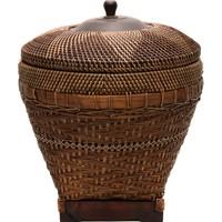 Yargıcı El Yapımı Hasır Sepet ( 45 X 45 Cm )