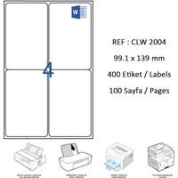 Crea Label Clw-2004 99.1 X 139 Mm Lazer Etiket