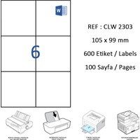 Crea Label Clw-2303 105 X 99 Mm Lazer Etiket