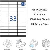 Crea Label Clw-2133 70 X 25 Mm Lazer Etiket