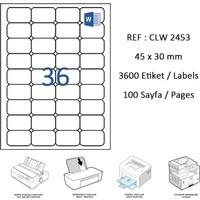 Crea Label Clw-2453 45 X 30 Mm Lazer Etiket