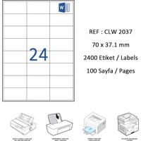 Crea Label Clw-2037 70 X 37.125 Mm Lazer Etiket