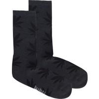 Bad Bear Bayan Çorap-Cannabıs 2'Li Paket Antrasit 41-45