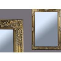 Ancel Antık Altın Ahsap Ayna 61x910Cm