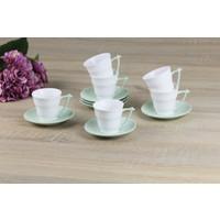 Royelia New Bone China Yeşil Kahve Fincanı Seti 90Ml