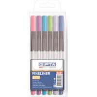 Gıpta Fineliner Kalem 0,4 Mm - Pvc Blister - Üçgen-6 Renk