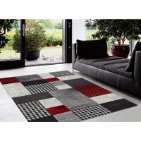 Padişah Renk R011-910 Modern Kırmızı Halı