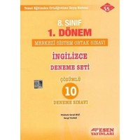 Esen Yayınları 8. Sınıf 1. Dönem İngilizce Deneme Seti Çözümlü 10 Deneme Sınavı
