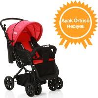Kanz Bremen Çift Yönlü Bebek Arabası / Kırmızı - Siyah