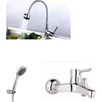 Erce Delta Spiralli Evye + Banyo Bataryası Ve Duş Takımı