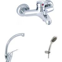 Erce Mix Kuğu Evye Ve Banyo Bataryası + Duş Takımı