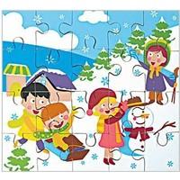 Akay S1737D Mevsimler Puzzle Kış