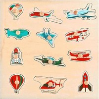 Akay Gk014T Ahşap Puzzle Hava Taşıtları