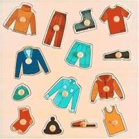 Akay Gk014N Ahşap Puzzle Kıyafetler
