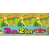 Yeşil Boncuk Muhabbet Yemi 3 Al 2 Öde (500 Gr+500 Gr+500 Gr)